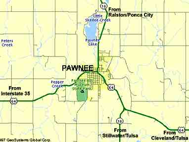 To Pawnee Map